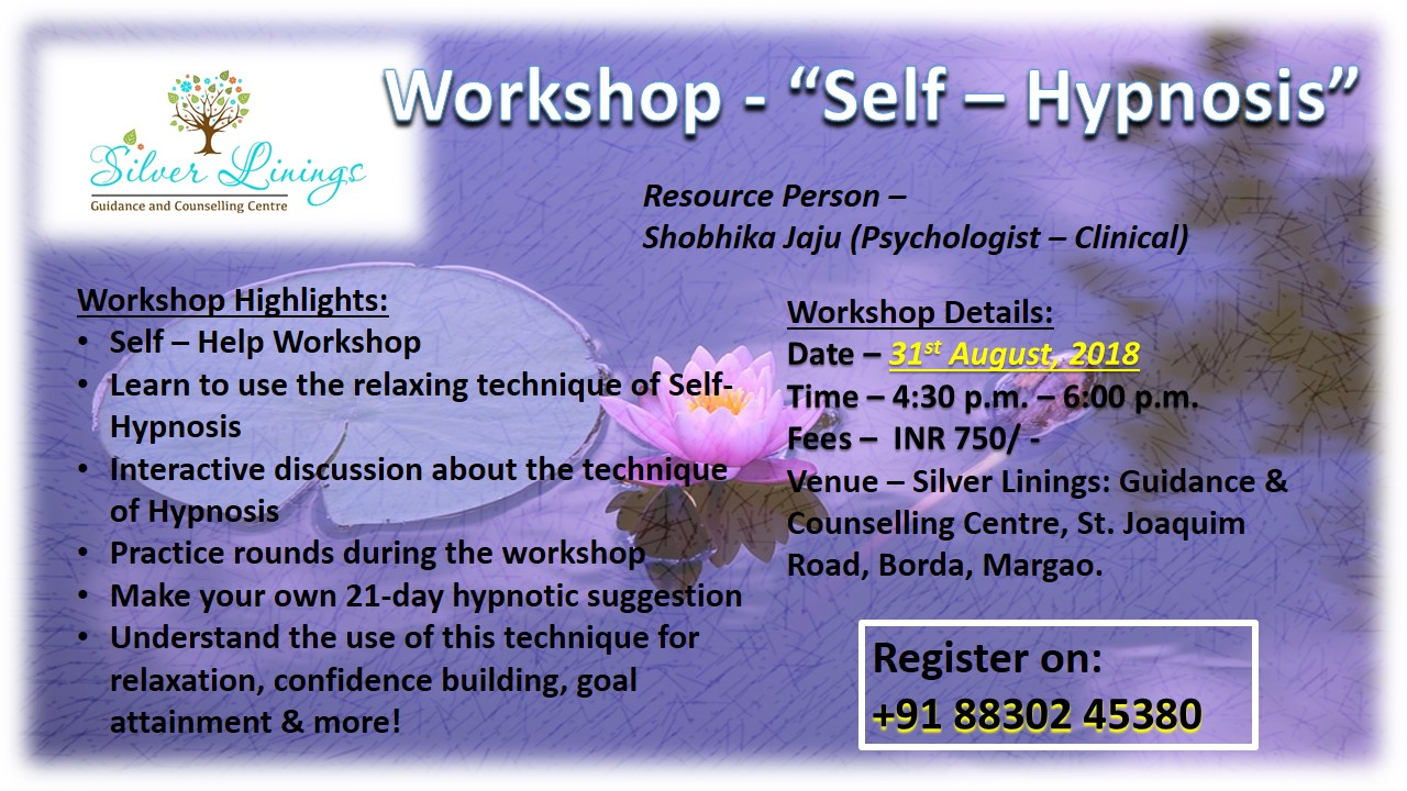 Self hypnosis - 31st August