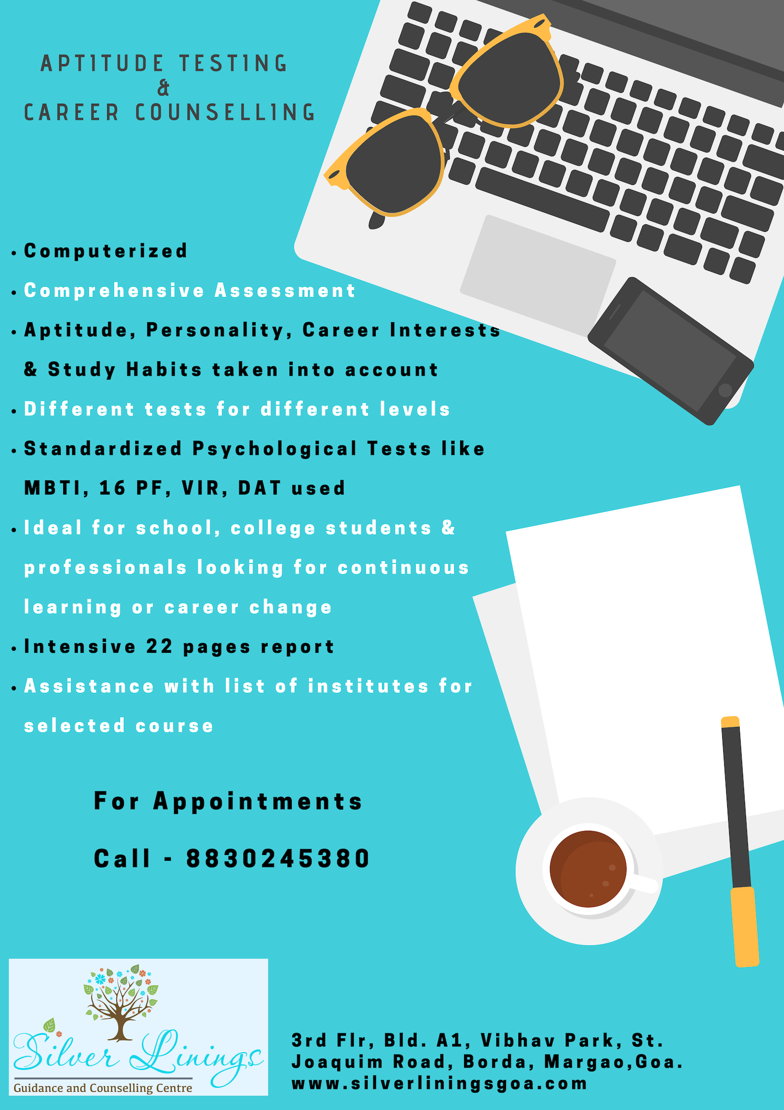 Career Counselling & Aptitude Test Silver Linings Goa