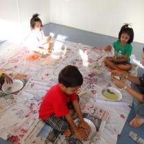 Sensory play activity - Toddler Art.