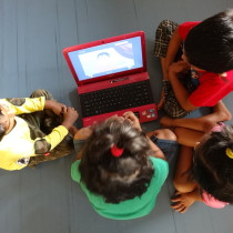 Education through cartoons - Toddler Art.