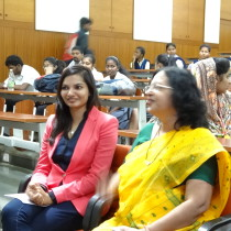 Our founder - psychotherapist invited as Chief Guest at Chowgule College. Seen here with the HOD, Dept. of Psychology.