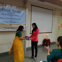 Being facilitated by Ms. Borkar at Chowgule.