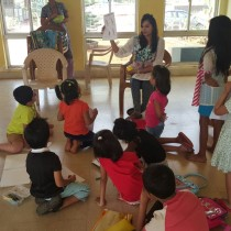 Learning the turtle technique. - Guest Workshop Facilitator For Chhavi Goyal.