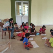 Listening with rapt attention. - Guest Workshop Facilitator For Chhavi Goyal.