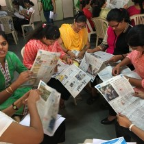 An interactive exercise underway at the teacher training - Little's, Fatorda.