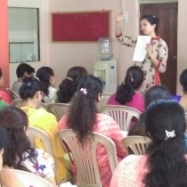 Concepts being explained at the Teacher Training Workshop - Little's, Fatorda.