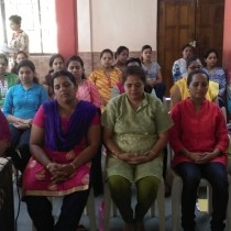 Stress Management exercises being practiced in the Teacher Training at Little's, Fatorda.