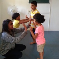 Fun and interesting motor skills being taught to the young buds
