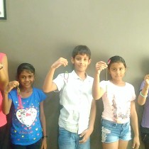 Creative Learning Workshop - Here we are with our dream catchers