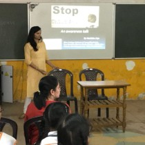 An awareness talk on preventing Child Abuse at Bloomz International School, Margao
